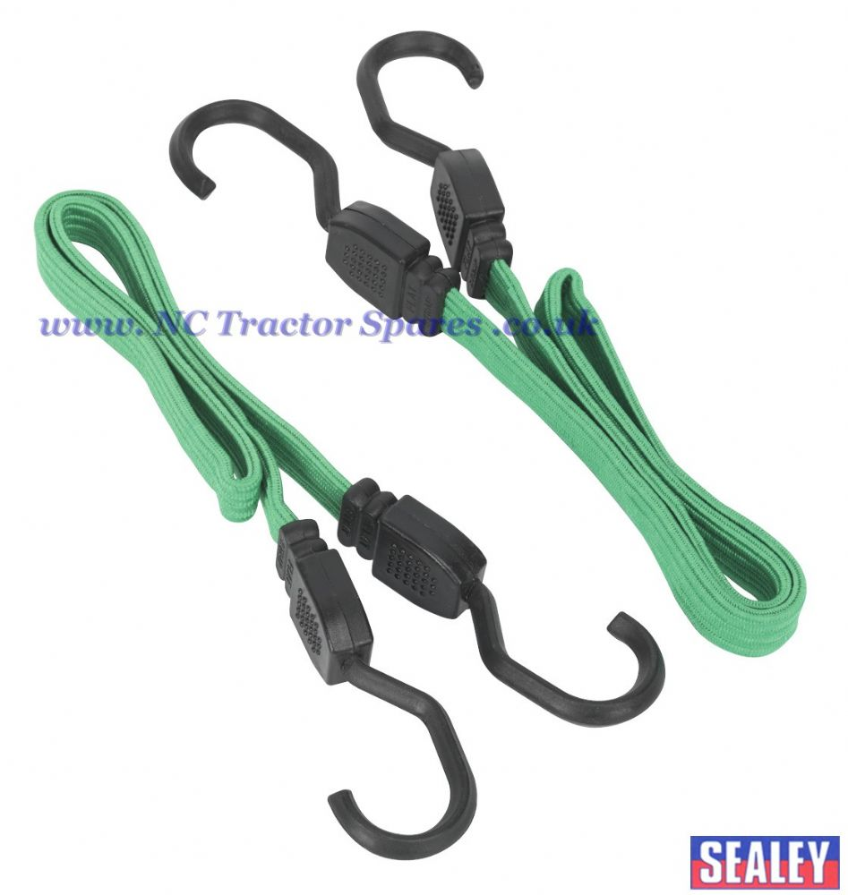 610mm Flat Bungee Cord Set 2pc